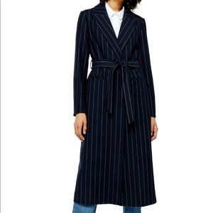 NWT Topshop Belted Long Coat
